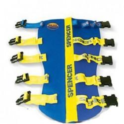 Atela de imobilizare rigida cu structura interna flexibila Blue Splint Pro Spencer pentru picior