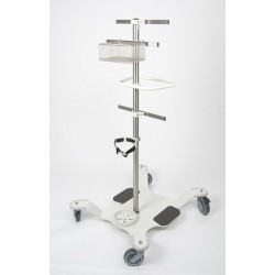 Stand mobil pe roti pentru oxigen si echipamente medicale