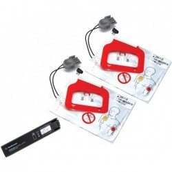 Kit baterie + 2 set-uri de electrozi pentru defibrilator AED LIFEPAK CR PLUS