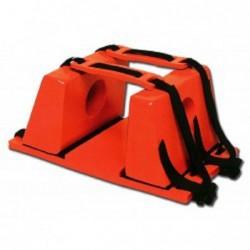 Imobilizator de cap universal pentru targa rigida tip placa spinala